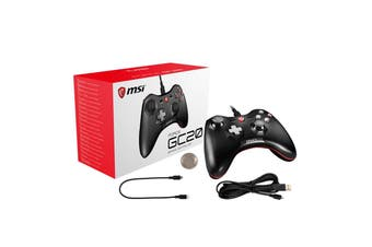 MSI Force GC20 Wired GAMING Controller for PC Windows/Android Dual Vibrations - FORCE GC20