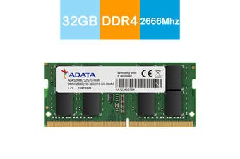Adata 32GB Premier DDR4 2666MHz High Speed SO-DIMM Memory for Notebook/Laptop - AD4S2666732G19-RGN