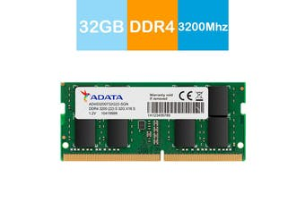 Adata 32GB Premier DDR4 3200MHz High Speed SO-DIMM Memory for Notebook/Laptop - AD4S3200732G22-RGN