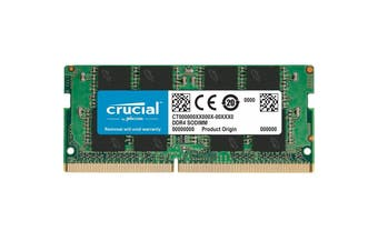 Crucial 8GB Laptop Notebook Momory 1x8GB DDR4 2666MHz SODIMM CL19 Single Ranked - CT8G4SFS8266