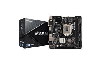 ASRock Micro ATX Motherboard Intel LGA1151 HDMI DVI-D D-Sub USB 3.1 - H310CM-HDV