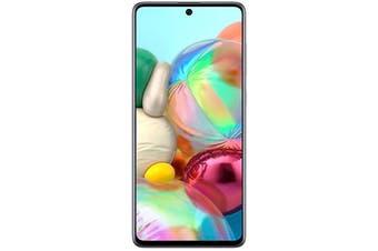 "Samsung Galaxy A71 128GB Silver 6.7"" Super AMOLED Screen Quad Camera Smartphone - SM-A715FZSDXSA"