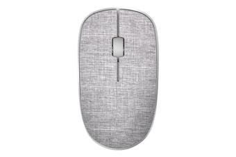 Rapoo 3510 Plus 2.4GHz Wireless Optical Fabric Mouse Grey Soft Fabric Cover - 3510PLUS GREY