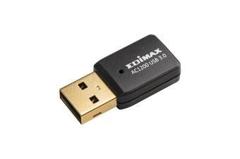 Edimax AC1200 Dual-Band MU-MIMO USB 3.0 Adapter Ultra-Speed - EW-7822UTC