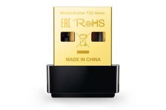 TP-Link AC600 Nano Wireless USB Adapter Dual Band Wireless Dongle - Archer T2U Nano
