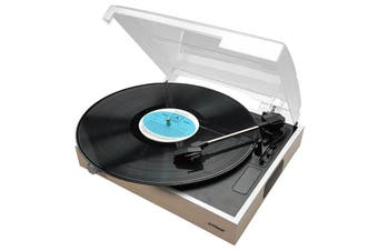mbeat Wooden Style USB Turntable Recorder with Built-in 2 Speakers - MB-USBTR68