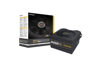 Antec 650w 80+ Gold PSU Semi Modular Power Supply 120mm Silence Fan - EA650G PRO