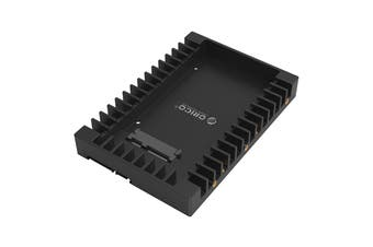 """Orico 2.5"""" to 3.5"""" Hard Drive Adapter Converter Mounting Frame Tray for 7/9.5mm - 1125SS-BK"""