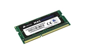 Corsair 8GB (1x8GB) DDR3 SODIMM 1333MHz 1.5V Memory for MAC Notebook Memory RAM - CMSA8GX3M1A1333C9