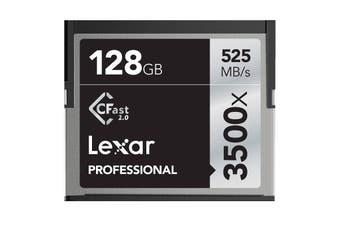 Lexar Professional 3500x 128GB CFast 2.0 CF Compact Flash Card - Upto 525MB/s - LC128CRBAP3500