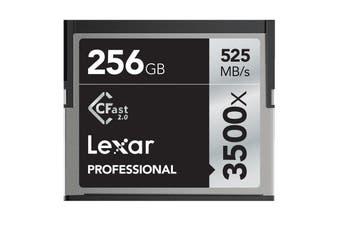 Lexar Professional 3500x 256GB CFast 2.0 CF Compact Flash Card - Upto 525MB/s - LC256CRBAP3500