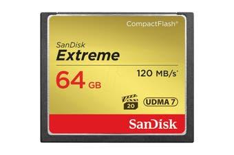 SanDisk CF Extreme 64GB 64GB CompactFlash memory card - SDCFXSB-064G-G46