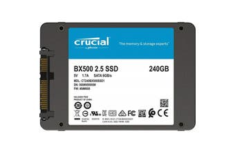 "Crucial BX500 240GB 2.5"" SATA SSD - 3D NAND 540/500MB/s 7mm Acronis True Image - CT240BX500SSD1"