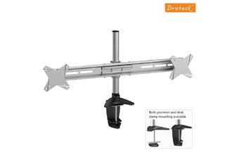 """Brateck Elegant Dual Horizontal LCD Monitor Table Stand Desk Clamp Up to 27"""" - BT-LDT02-C02"""