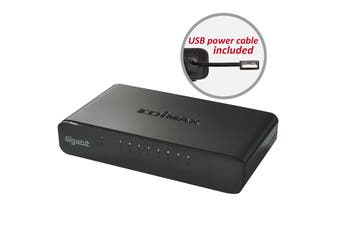 Edimax 8-Port Gigabit Switch High-Speed Supports Auto-Negotiation - ES-5800G V3