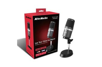 Avermedia AVerMedia USB Microphone for Studio Quality Sound Live Streaming Music - AM310