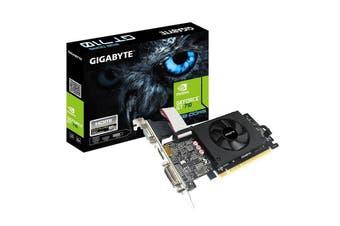 Gigabyte nVidia Geforce GT 710 2GB GDDR5 PCIe Video Card HDMI DVI D-SUB - GV-N710D5-2GIL