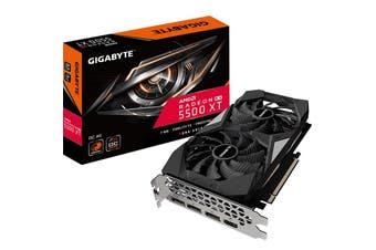 Gigabyte RX 5500 XT OC 4G GDDR6 PCIe 4.0 Graphic Card 8K 7680x4320@60Hz 4xDispla - GV-R55XTOC-4GD