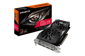 Gigabyte RX 5500 XT OC 8G GDDR6 PCIe 4.0 Graphic Card 8K 7680x4320@60Hz 4xDispla - GV-R55XTOC-8GD