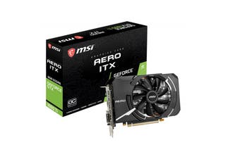 MSI GTX 1660 Ti AERO ITX 6GB OC GDDR6 7680x4320 DP1.4 HDMI2.0 1830 MHz G-SYN VR - GTX 1660 Ti AERO ITX 6G OC