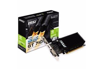 MSI nVidia GeForce GT 710 2GB DDR3 Graphics Card HDMI DVI VGA D-SUB Low Profile - GT 710 2GD3H LP