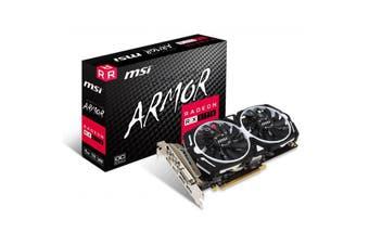 MSI RX570 ARMOR 4G OC GDDR5 4K 7680x4320@60Hz PCI-E 3.0 3xDP1.4 1xHDMI2.0 1xUSB- - RX 570 ARMOR 4G OC