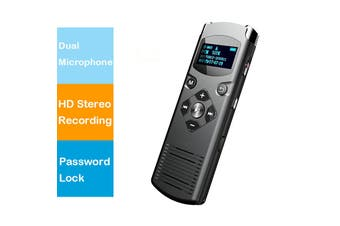 Hnsat Digital Voice-Activated Voice Recorder Dual Microphone HD Stereo Recording - DVR-616