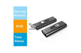 Hnsat Voice Recorder 8GB Mini USB Flash Digital Audio Voice Recording - UR-26-8GB
