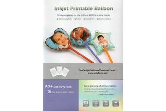 DIY Inkjet Printable Balloons A3+ Size 10pcs (Party Pack)