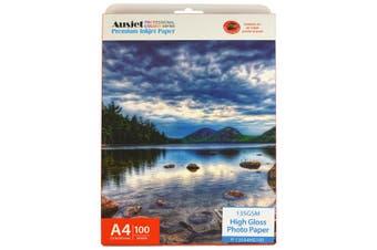 135gm A4 High Gloss Photo Paper (100 Sheets)