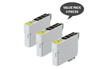 EPSON T1381 (138) Pigment Black Compatible Inkjet Cartridge x 3