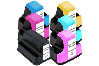 HP 02XL Compatible Inkjet Cartridge Set 6 Ink Cartridges