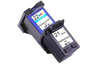 HP 21XL Remanufactured Inkjet Cartridge Set #1 2 Ink Cartridges