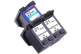 HP 21XL Remanufactured Inkjet Cartridge Set #2 3 Ink Cartridges