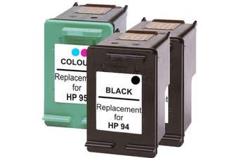 HP #94 Remanufactured Inkjet Cartridge Set #2 3 Cartridges