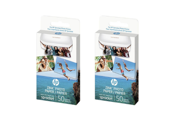 """Genuine HP Sprocket Zink Sticky backed Photo Paper 1RF42A (50 sheet, 2""""x 3"""") x 2 Pack"""