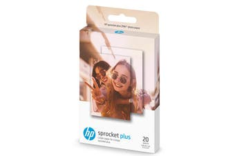 """Genuine HP Sprocket PLUS Zink Sticky backed Photo Paper 2LY73A (20 sheet, 2.3"""" x 3.4"""")"""