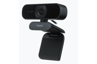 RAPOO C260 Webcam FHD 1080P/HD720P, USB 2.0 Compatible Win7/8/10, Mac OS X 10.6 or above, Chrome OS and Android V5.0 or above - Ideal for TEAMS, Zoom