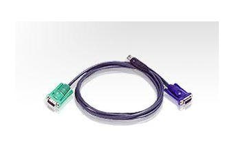 ATEN 3.0m 3in1 VGA, USB Console KVM Split Cable HDB-15M to SPHD-15M