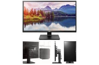 LG 23.8' IPS 5ms Business. Full HD, Monitor w/HAS PIVOT - VGA/DVI/HDMI/DP USB Speakers VESA100mm Height Adjust Stand