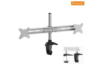 BRATECK Dual Monitor Mount w/Arm & Desk Clamp VESA 75/100mm Up to 27'(LS)