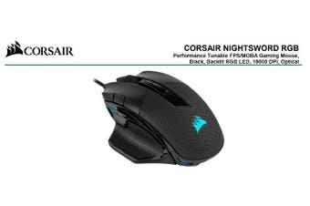 CORSAIR Nightsword RGB Smart Tunable, FPS/MOBA, 18000 DPI, Gaming Mouse