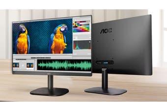 AOC 23.8' IPS, Low Blue, Flicker Free, Ultra Slim Monitor. VGA, HDMI 1.4. VESA 100 x 100mm. Office, Business, Home Monitor