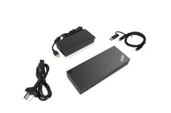 LENOVO ThinkPad Hybrid USB-C with USB-A Dock - Docking station - USB-C - 2 x HDMI, 2 x DP - GigE - 135 Watt - for Tablet 10; ThinkPad E480; L380; L380