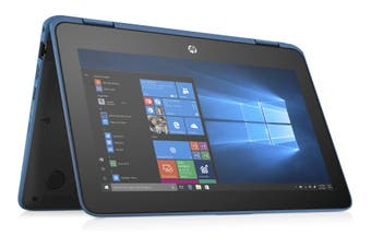 HP ProBook X360 11 G4 EE 11.6' HD TOUCH M3-8100Y 8GB 128GB SSD WIN10 PRO 3CELL 15hr World-Facing 1.44kg 1YR WTY Flip W10P Notebook BLUE (6ZT83PA)