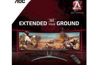AOC 49' AGON Curved 1800R, DQHD 5K 5120 x 1440, VA, Freesync 2, HDR400, 120Hz,1ms, 2H, 2DP, USB-C, Speaker, HAS, Top of Line Gaming Monitor