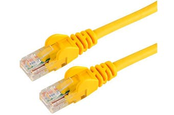 CABAC 50cm CAT5 RJ45 LAN Ethenet Network Yellow Patch Lead