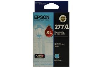 EPSON 277XL Light Cyan, HIgh Capacity, Claria Photo HD