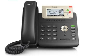 YEALINK T23G 3 Line IP phone, 132x64 LCD, Dual Gigabit Ports, PoE/HDV. No Power Adapter included