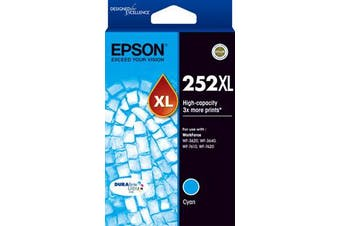 EPSON 252XL Cyan Ink Cartridge Suits WF3620/3640/7610/7620